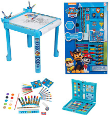 Paw Patrol Childrens Kids Craft Table & 52 Piece Art box Pens Paints Crayons RCP