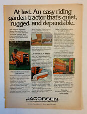 1961 PAPER AD Buckeye Riding Lawn Mower Tractor Made In Ohio