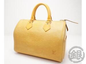 4d37d64780e2 AUTH PRE-OWNED LOUIS VUITTON EPI TASSILI YELLOW SPEEDY 25 HAND BAG ...
