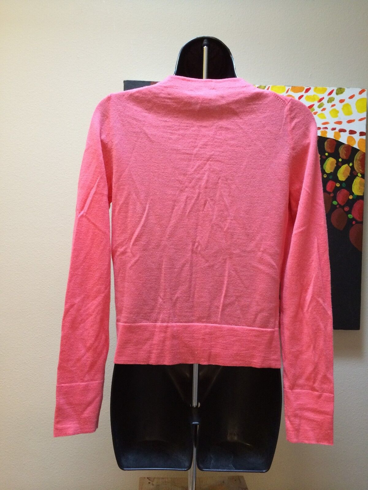 J.Crew coral pink Cardigan button up sweater top womens Sz S ...