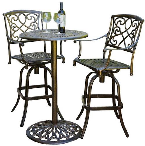 Outstanding Outdoor Furniture Set Deck Patio Garden Bar Height Aluminum Bistro Table Chairs Theyellowbook Wood Chair Design Ideas Theyellowbookinfo