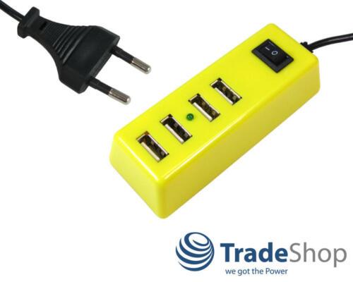 USB-Mehrfachsteckdose 4fach USB-Port an einem Stecker 2,1A