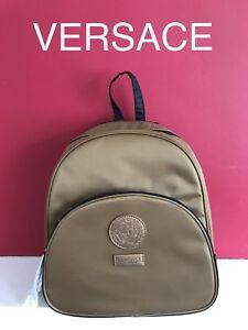 100-Genuine-Versace-Gold-Luxury-Backpack-Rucksack-Style-Bag-Pack-in-Dust-Bag