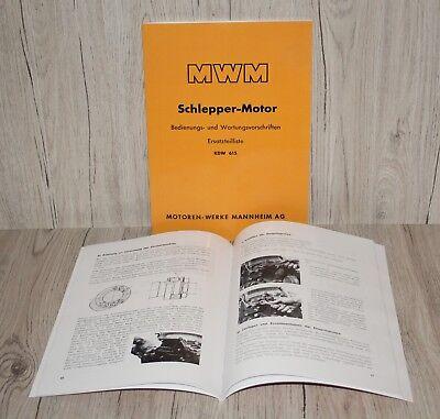 Betriebsanleitung Und Ersatzteilliste Dieselmotor Mwm Kdw 615 Einzylinder Gute QualitäT