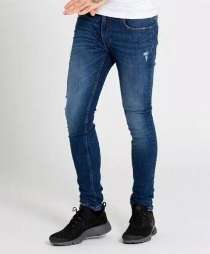 Nuevo Para hombres Dml comando Indigo Jeans Tamaño W30 L32 £ 19.99 o mejor oferta RRP £ 49.99