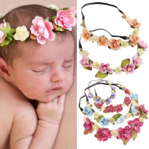Böhmen-Blumen-Haarband-Kinderblumen-Kronen-Stirnband-Hochzeits-Mädchen Headwear