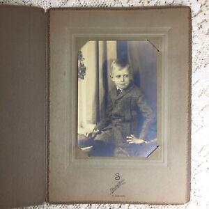 Antique Photo Little Boy Tweed Norfolk Jacket Knickers Short Pants 1920s Fashion