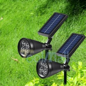 2Pack-Solar-Lights-Waterproof-Outdoor-Yard-Landscape-Light-Spotlight-Auto-On-Off