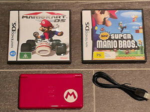 Nintendo DS Lite Mario Pack - Console + charging cord + 2 Mario games