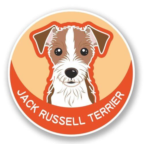 2 X Jack Russell Perro Pegatina de vinilo Laptop Viaje Equipaje Coche #5988