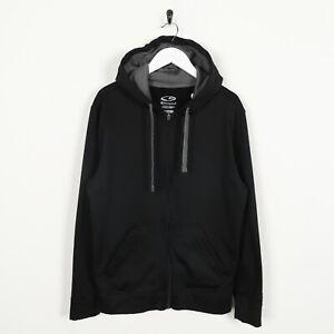 Vintage-CHAMPION-Zip-Up-Polyester-Hoodie-Sweatshirt-Black-Medium-M