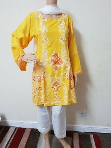 Pakistani-Embroided-Linen-Suit-Dress-Casual-Stitched-Shalwar-Kameez