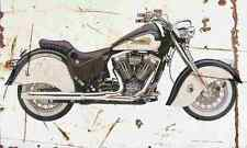 Indian Chief Deluxe 2002 Aged Vintage SIGN A4 Retro