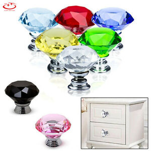 30-40-50mm-Diamond-Shape-Crystal-Glass-Cabinet-Knob-Drawer-Cupboard-Pull-Handle