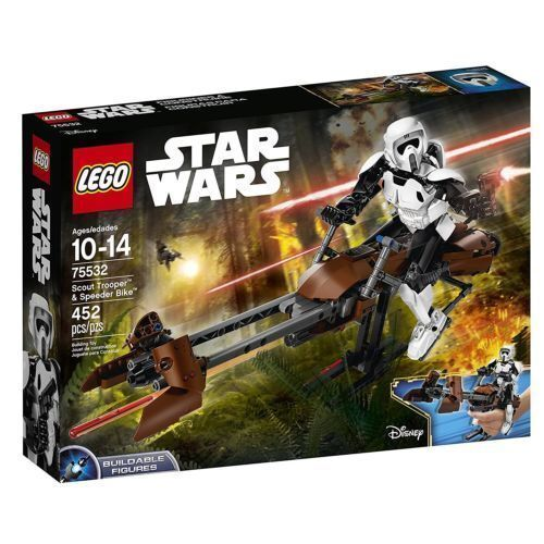 75532 SCOUT TROOPER & SPEEDER BIKE buildable figure star wars lego NEW legos set