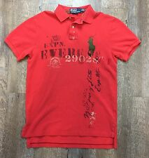 MENS SML Polo Ralph Lauren BIG PONY Expedition Everest Polo Shirt Custom Fit Red