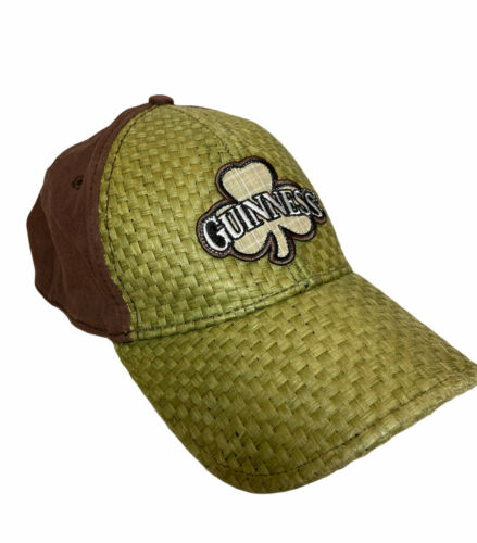 Guinness Beer Woven Straw Cap Hat OS - image 1