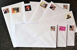 (50) Forever Stamped Envelopes #6 3/4 White Security Tint Standard Size Gummed