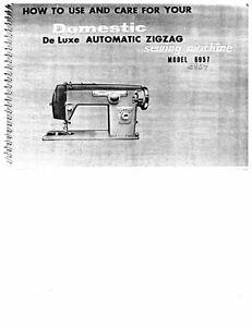 white serger sewing machine manual