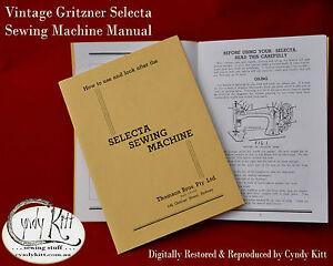Gritzner-039-Selecta-039-VS-Sewing-Machine-Manual-repro