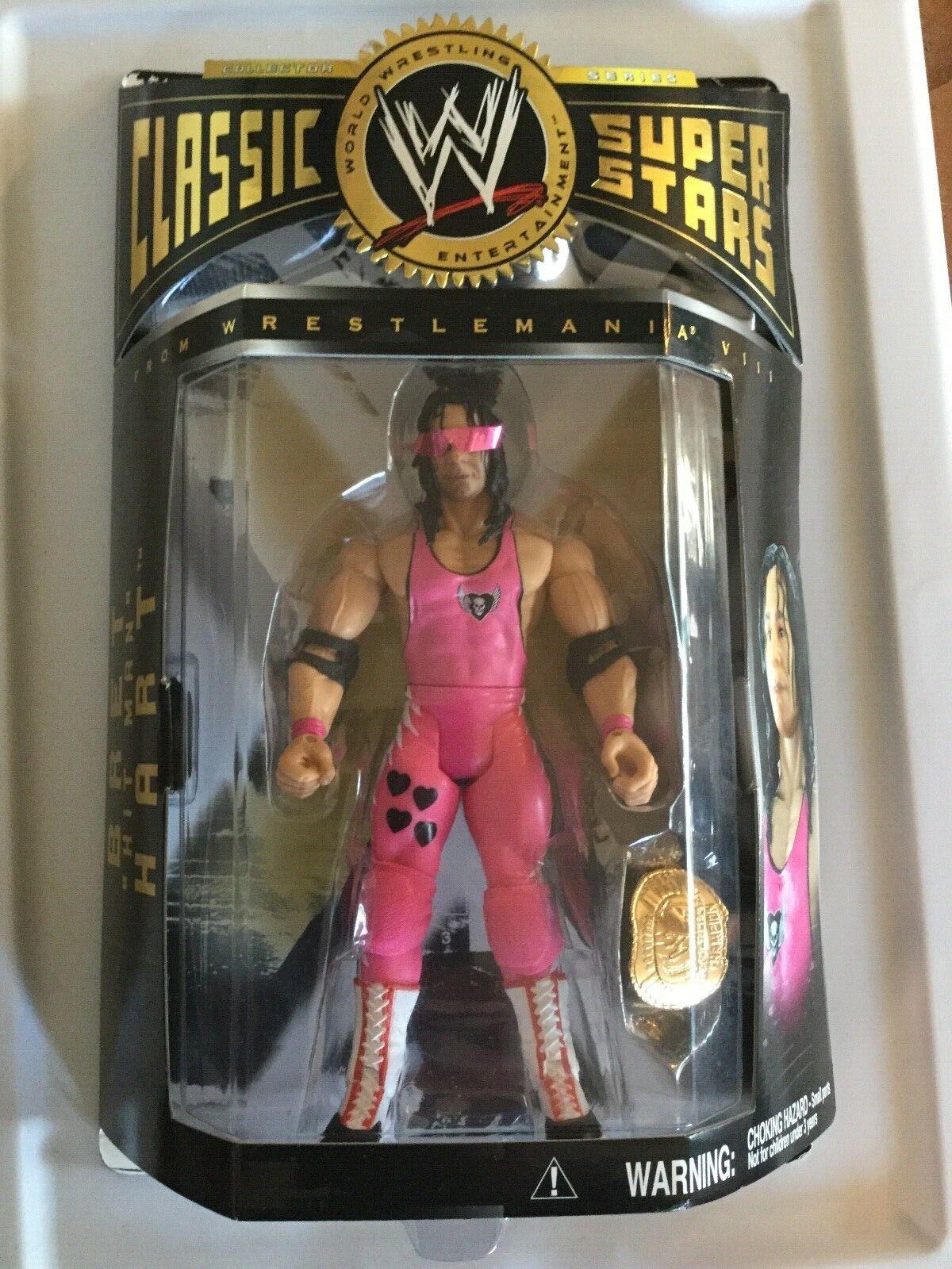 BRET THE HITuomo HART HART HART WWE Jakks Classic Superstellas 2004 WRESTLEuomoIA 13 c713b4