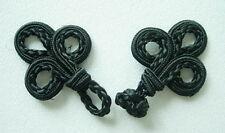 FG179 Fleur-De-Lis Corded Fastener Frog Closure Knots Buttons 10pairs