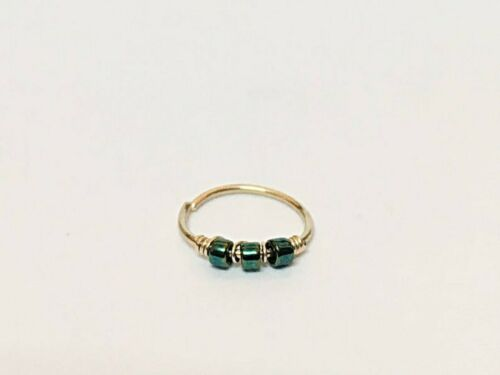 9K 14K 18K Gold Helix Earring Hoop Tragus Daith Cartilage Nose Septum Ring