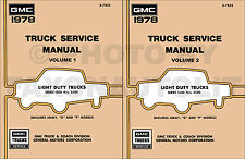 1978 GMC Shop Manual Pickup Truck Van Jimmy Suburban Sierra Repair Service Book