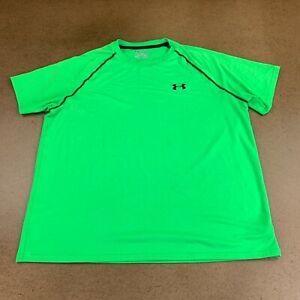 Under-Armour-HeatGear-Men-039-s-Size-Large-Loose-Green-Short-Sleeve-Athletic-T-Shirt