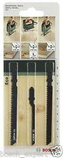 Bosch Jigsaw Blade Set for Wood with Single Lug Shank (3 Pieces)