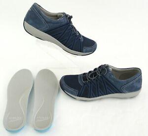 Dansko Honor Blue Suede Sneakers Shoes
