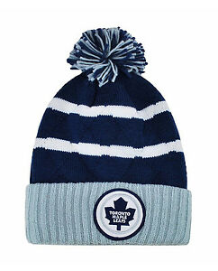 Mitchell-amp-Ness-NHL-Beanie-Toronto-Maple-Leafs-Royal-Blue-Quilted-Pom-Knit-Hat