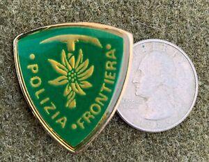 POLIZIA-FRONTIERA-ITALIAN-MOUNTAIN-DISTINCTIVE-INSIGNIA-PIN-Vintage-ITALY