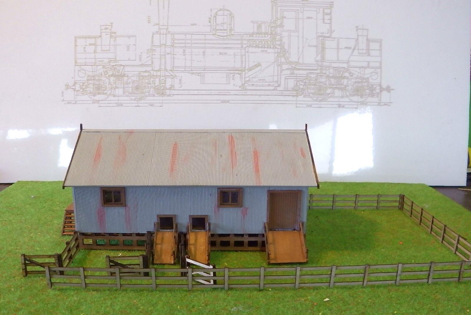 Cobertizo de la cantera cantera cantera de Cochebón Ho - scale Wangaratta y revestimiento de la valla 0a3