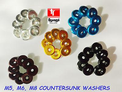 Tyagi Racing M5 Aluminium Countersunk Washer Blue
