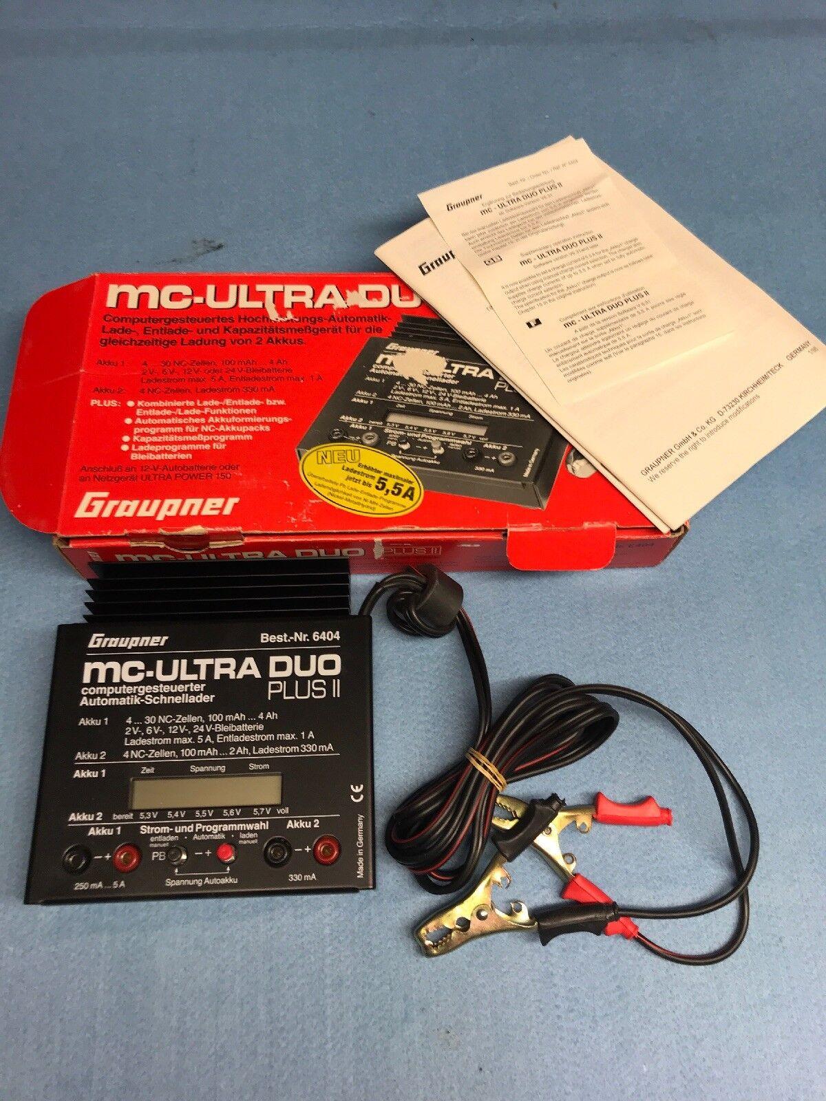 grispner Mc Ultra Duo Plus 2 Cargador De Batería Avión RC No.105