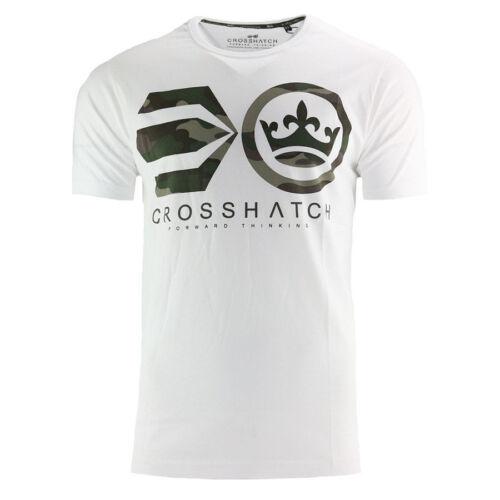 New Crosshatch T Shirt Long /& Short Sleeved Crew Neck Summer Printed Cotton M-XL