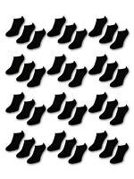 10 bis 50 Paar Comfort Sneaker Socken Sport - Damen & Herren - Schwarz & Weiß