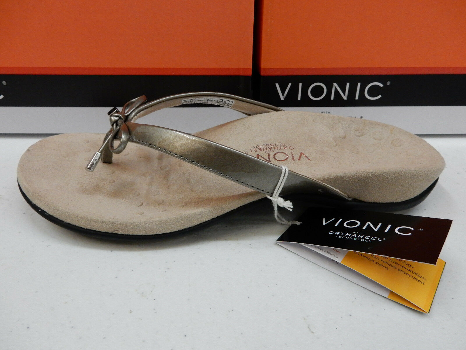 VIONIC W/ ORTHAHEEL TECHNOLOGY Damenschuhe SANDALS BELLA II PEWTER SIZE 10