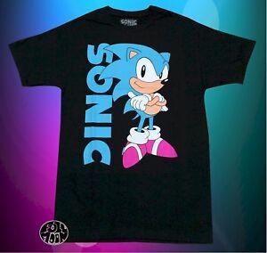 New Sonic The Hedgehog Sega Vintage Classic Mens T Shirt Ebay