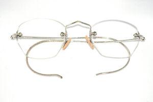 Vintage-034-ADJUSTA-034-half-rim-spectacles-Silver-metal