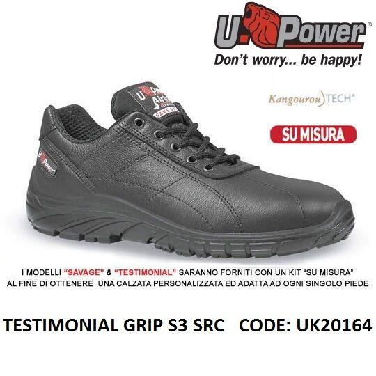 UPOWER Scarpa lavoro Antinfortunistica TESTIMONIAL GRIP S3 SRC U-POWER UK20164 | Ad un prezzo inferiore  | Uomo/Donna Scarpa