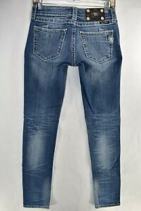 Miss-Me-Jeans-Skinny-Stretch-Blue-Jeans-Tag-Size-26-Womens-Meas-27x32-5