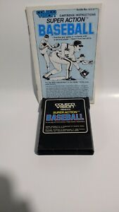 Super-Action-Baseball-Colecovision-1983-Coleco-Game-W-Manual-Cleaned-Tested