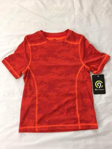 Boys C9 Champion Short Sleeve Duo Dry Red Camouflage  T-Shirt Pick Your Size