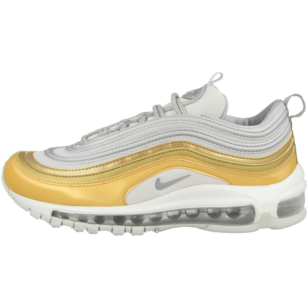 Nike air Max 97 SE Gr.38 Course Chaussures Baskets 270 Doré Argent Aq4137 001