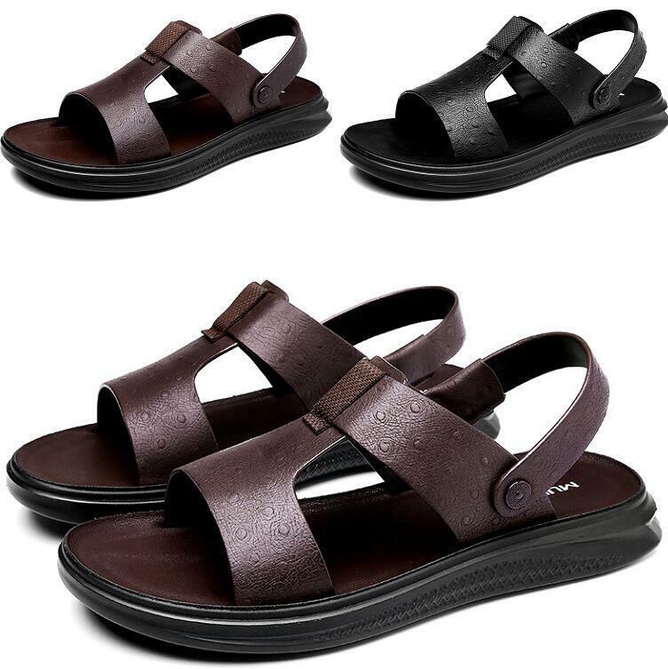 Zapatillas Para Hombre Con Correas Sin Cordones Puntera Abierta Antideslizante Nuevos Zapatos Sandalias De Playa