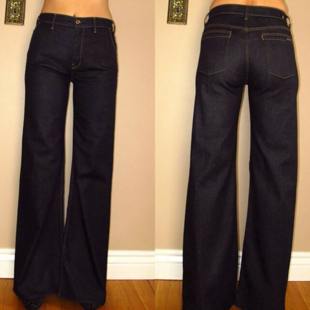 All 7 25 For Erin Flare Mankind Trousers Jeans 27 Wide Seven High Leg OZuTPkXi