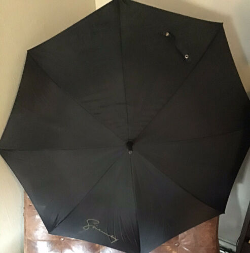 Vintage Givenchy Black Spell Out Umbrella Circa 19