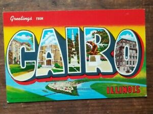 Chrome unposted Greetings from Cairo, Illinois